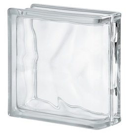 Glasblok wolk eindsteen