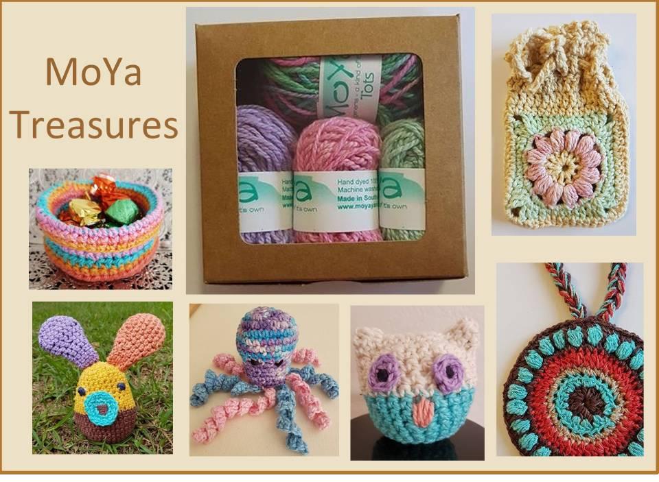 MoYa Moya Treasures - Box met handgeverfde 100 % ecologische katoen