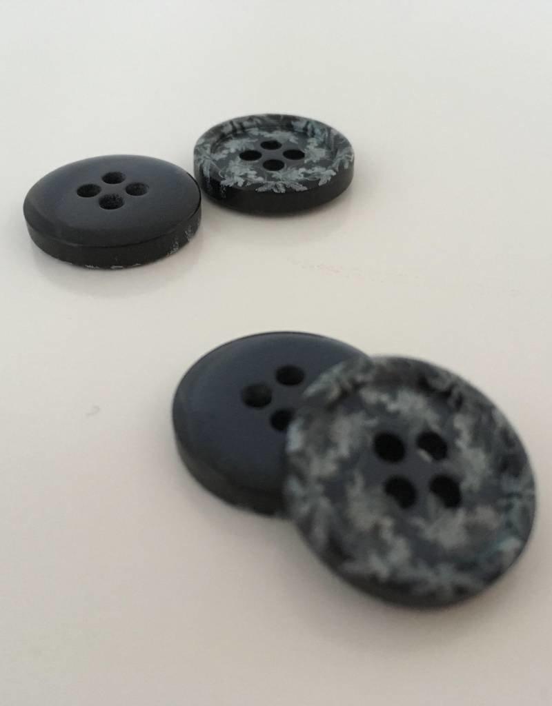 DeBondt Knoopjes Vintage Bloem Blauw