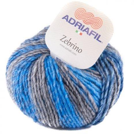 Adriafil Zebrino 62 Multi Blue Green Fancy