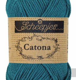 Scheepjeswol Catona 25 - 400 Petrol Blue