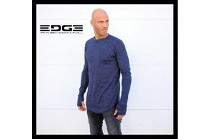VIP Clothing blauw shirt met verlengde mouwen