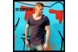 EDGE prachtig antraciet t-shirt van superieure kwaliteit