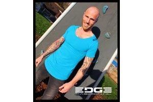 EDGE prachtig turquoise t-shirt van superieure kwaliteit