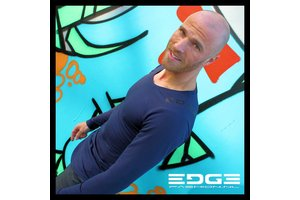 EDGE prachtig navy blauw shirt met lange mouwen van superieure kwaliteit