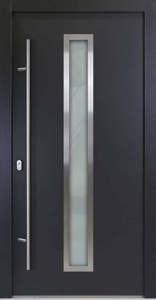 Haustüren anthrazit modern  Alu Haustüren mit Holz-Energiesparkern - FensterAdler