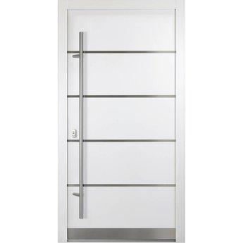 Haustüren modern weiß  Alu-Haustür - ADLER 02 - weiß - FensterAdler
