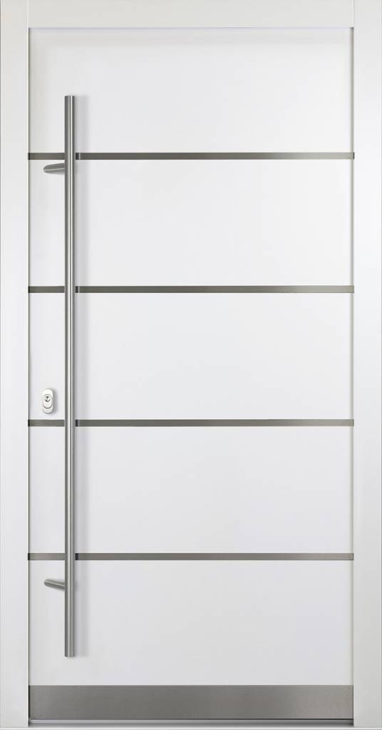 Haustüren weiß mit glas  Alu-Haustür - ADLER 02 - weiß - FensterAdler