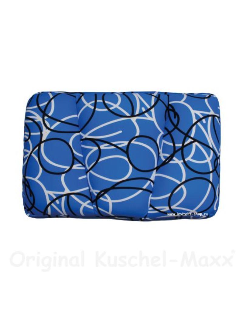 Kuschel-Maxx - Schlafkissen Linien Blau
