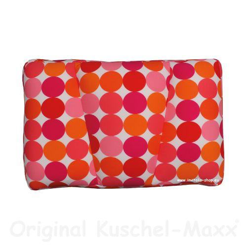 Kuschel-Maxx - Schlafkissen Punkte Orange