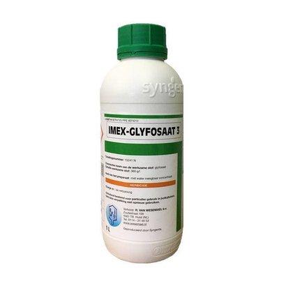 Eigen merk Onkruidkiller Imex glyfosaat 3- 1000ML