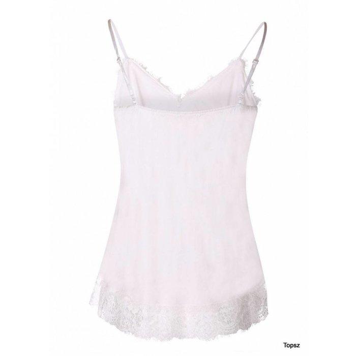 zijden hemdje white