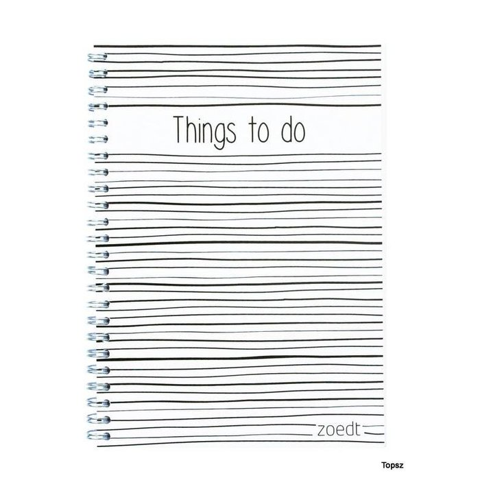 Things to do notitieboekje