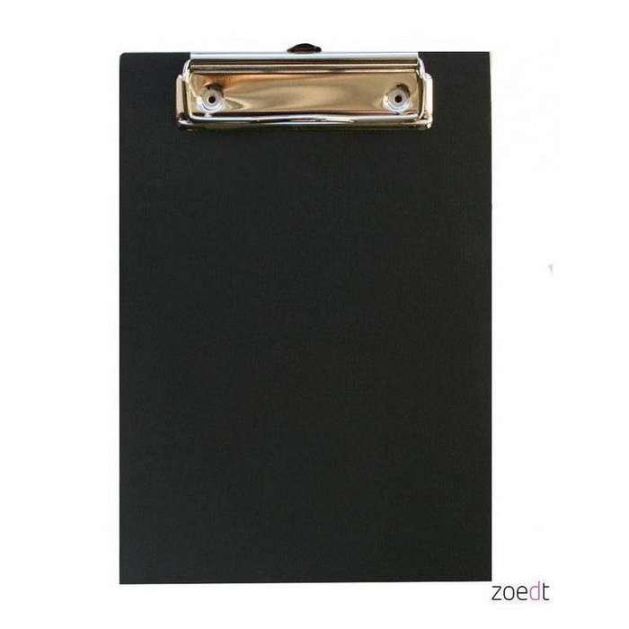 Black wooden clipboard