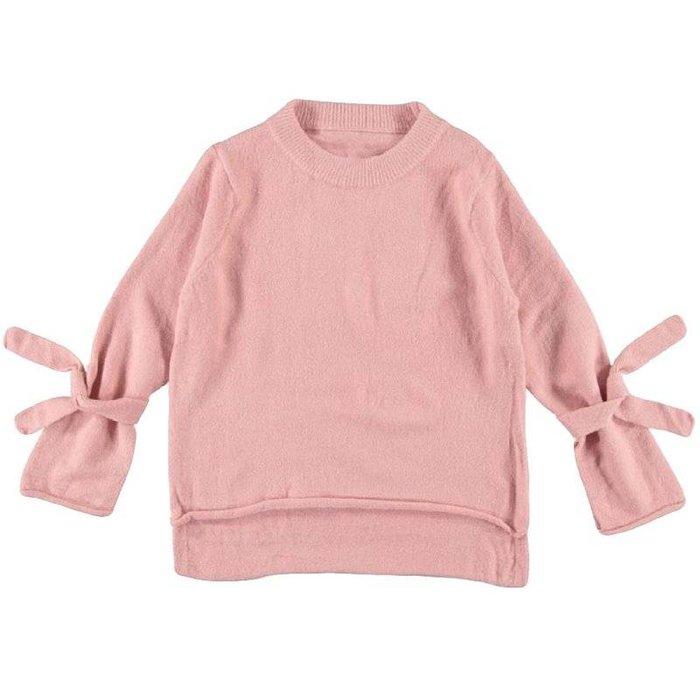 Trui met strik roze