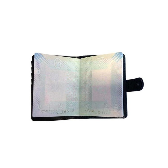 Silver passport holder