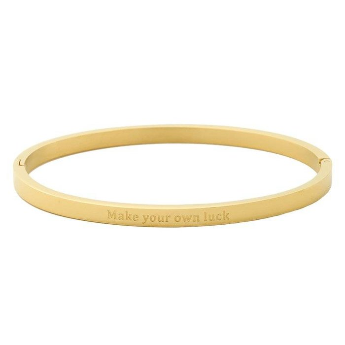 Make your own luck bangle gold
