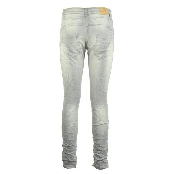 Lichtgrijze jogging jeans