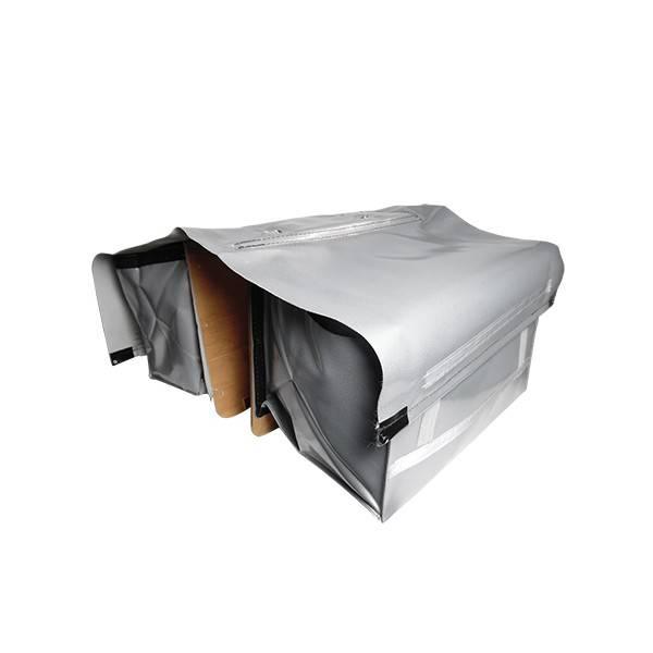 fietstas de poort luxe xxxl zilver. Black Bedroom Furniture Sets. Home Design Ideas