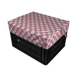 Hooodie Box M Pink Checker voor Kerri Fietskrat