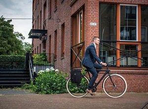 Uw fietstas nóg sneller in huis (of haal 'm ff op)!