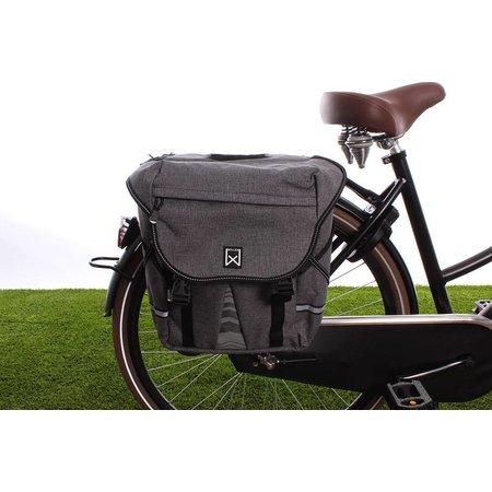 Willex Dubbele fietstas Bagagetas 1200 Antraciet - 28 liter