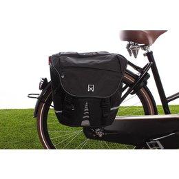Willex Dubbele fietstas Bagagetas S 1200 20L Zwart