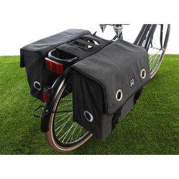 Willex Dubbele fietstas Canvas Tas 40L Zwart