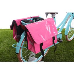 Beck Dubbele fietstas Mini Bisonyl Pink