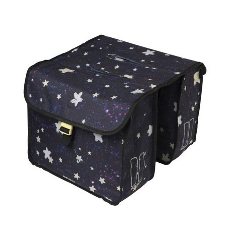 Basil Kinderfietstas Stardust Double bag Nightshade 20L