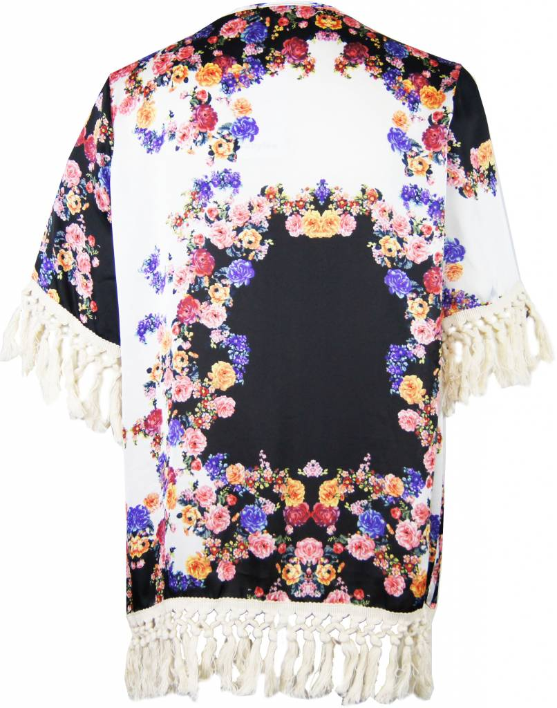 FLOWER POWER kimono black
