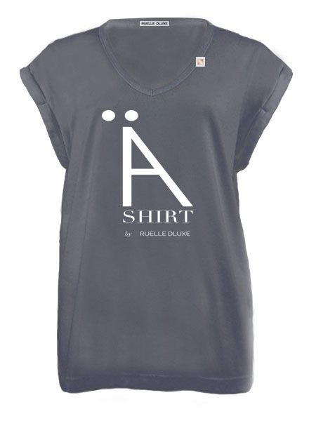 RUELLE DLUXE GREY WHITE CONFUSION It-Tee