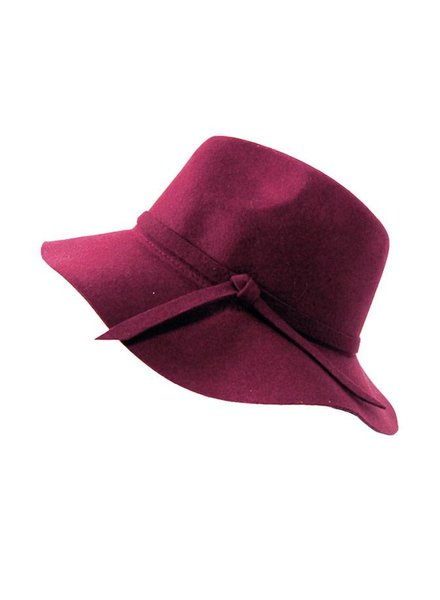 WINE FEDORA HAT