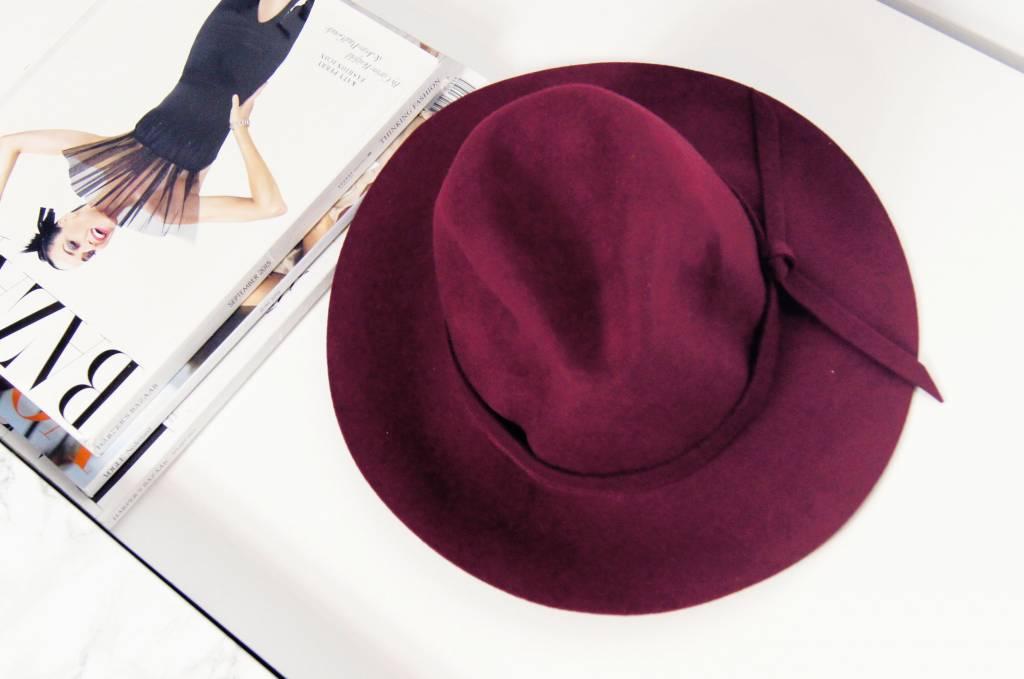 WINE FEDORA HAT