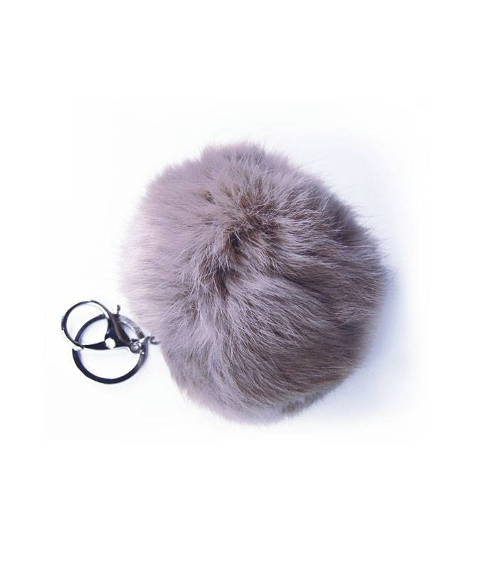FURRY FRIEND KEYCHAIN GREY