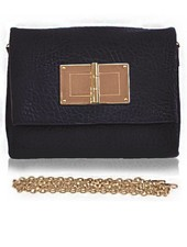 BLACK BUCKLE CLUTCH