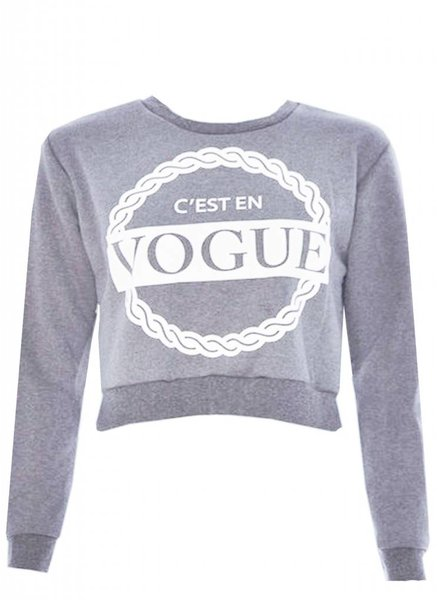 C'EN VOGUE CROP SWEAT