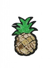 JEANS PATCH GLITZY PINEAPPLE