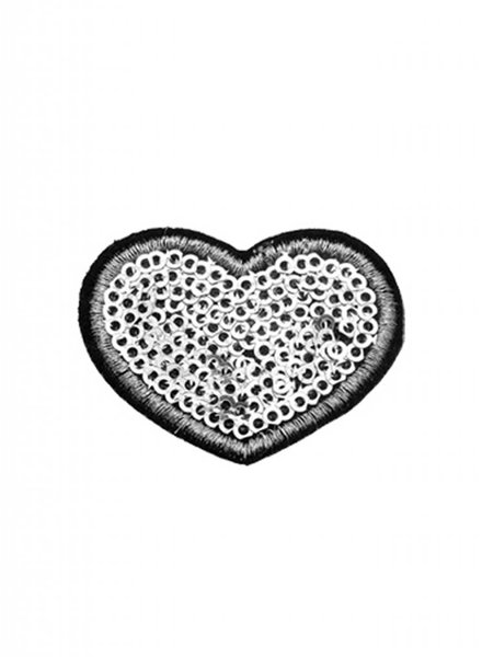 JEANS PATCH GLITZY HEART