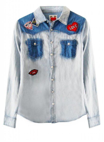 RAMBLING DENIM BLOUSE