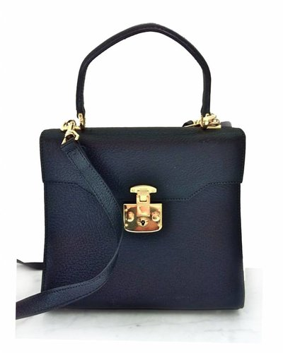 GUCCI GUCCI Black Leather Handbag