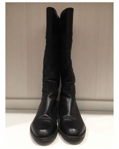 CHANEL CHANEL high quilted boots