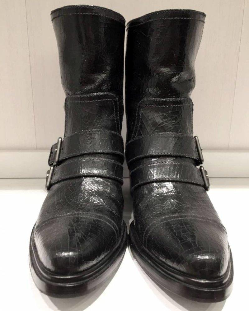 MIU MIU leather ankle boots