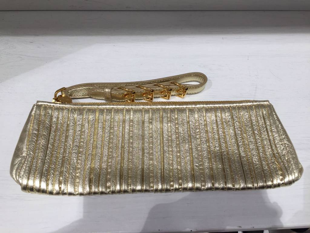 MIU MIU MIU MIU gold leather clutch