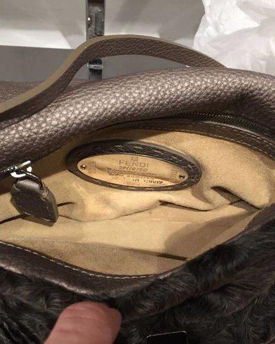 FENDI FENDI mini grey bag