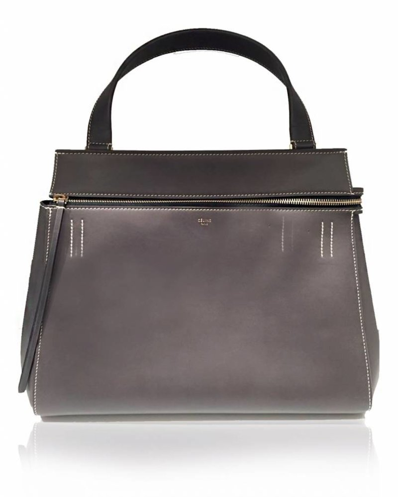 CÉLINE CÉLINE dark grey leather bag