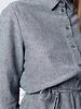 Gray shirt dress