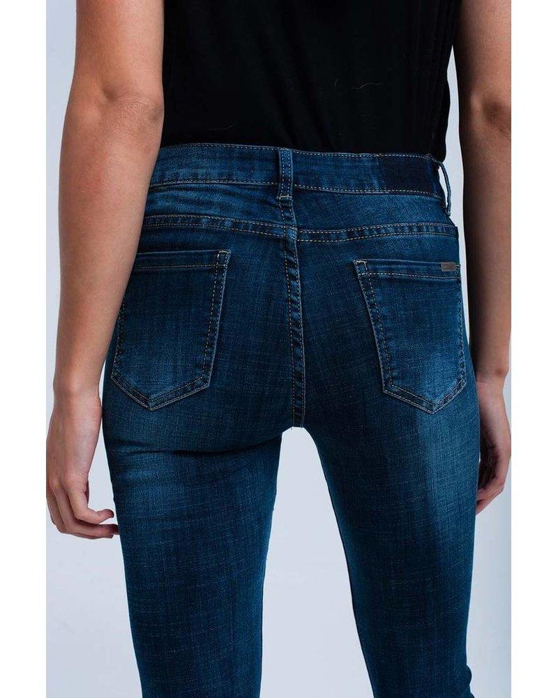 Skinny Fringe Jeans