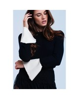 White Cuff Sweater