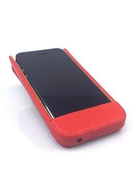Wünsch & Co Etui für iPhone 5 mit Klappe, Dollaro-Leder, feuer